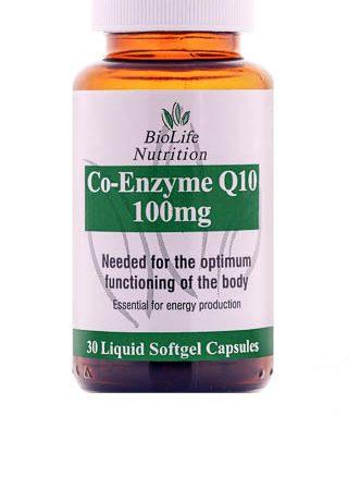 BioLife Coenzyme Q10 100mg 30 capsules