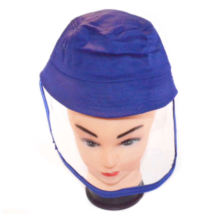 KIDS PPE BUCKET HAT WITH DETACHABLE SHIELD
