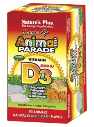 Animal Parade Vitamin D3 500IU Sugar-Free