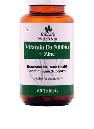 Biolife Vitamin D 3 5000iu and Zinc