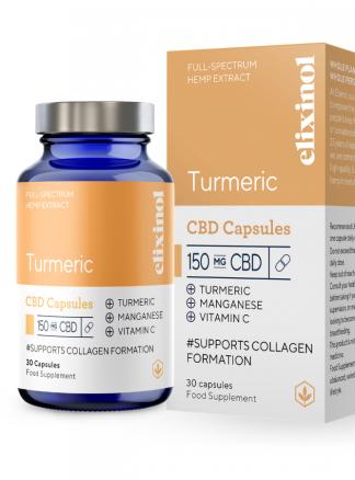 Elixinol Turmeric CBD Capsules